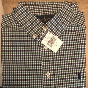 Polo button up youth size 14 with tags